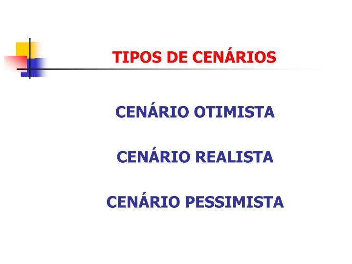 TIPOS DE CENÁRIOS