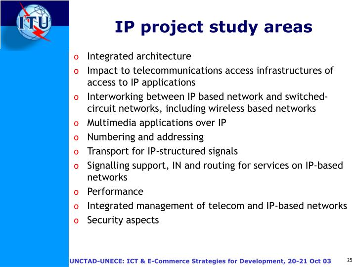 IP project study areas