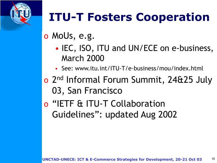 ITU-T Fosters Cooperation