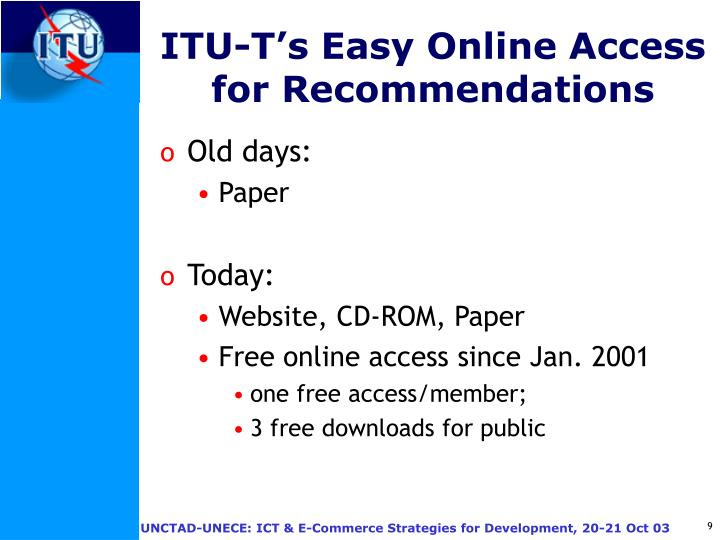 ITU-T's Easy Online Access