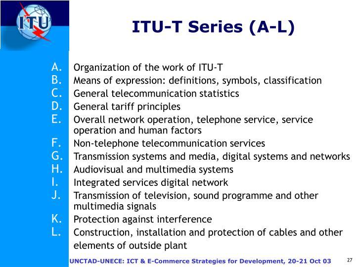 ITU-T Series (A-L)