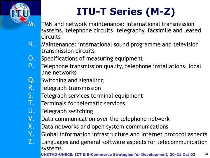 ITU-T Series (M-Z)