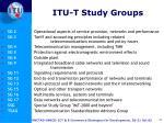 itu t study groups