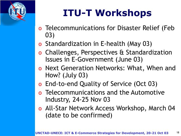 ITU-T Workshops