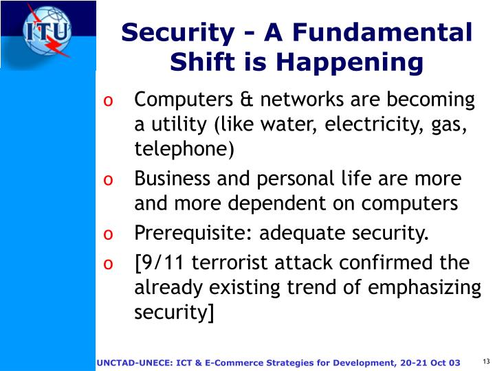 Security - A Fundamental Shift is Happening