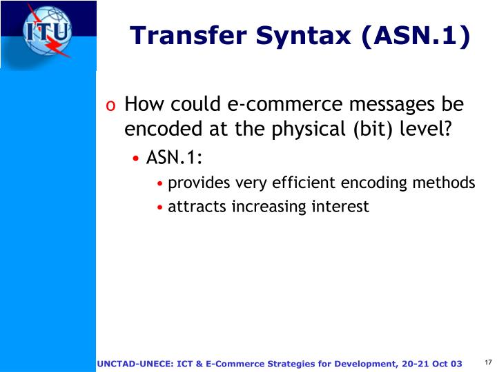 Transfer Syntax (ASN.1)