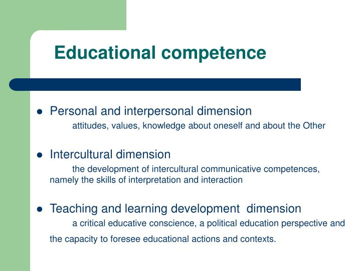 Educational competence