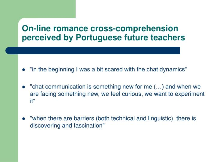 On-line romance cross-comprehension perceived by Portuguese future teachers