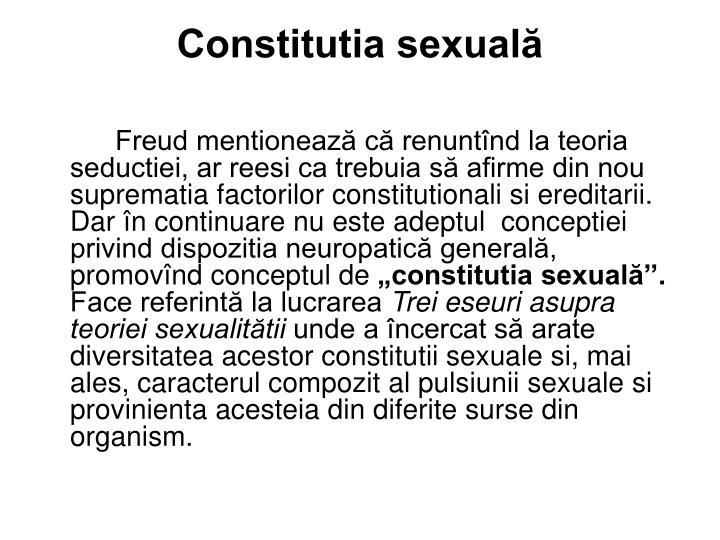 Constitutia sexuală