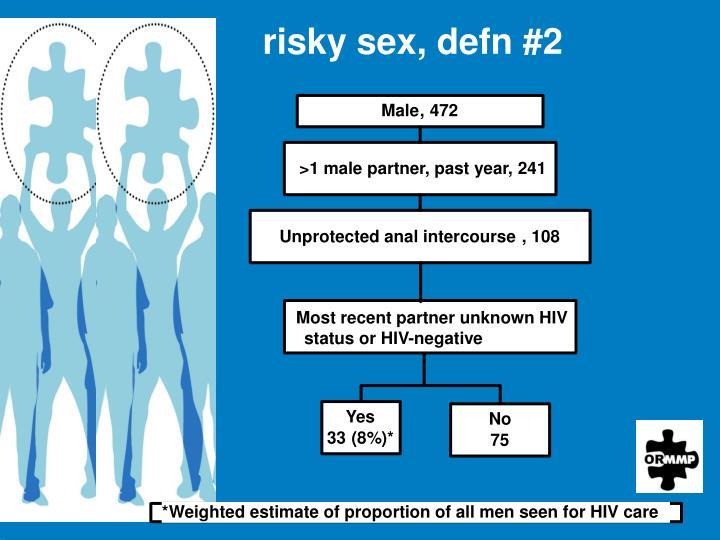 risky sex, defn #2