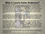who is laurie halse anderson