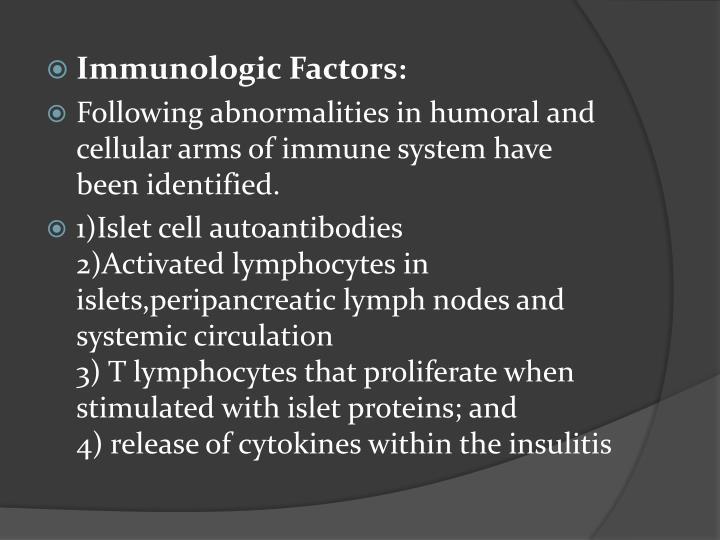 Immunologic Factors