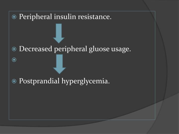 Peripheral insulin resistance.