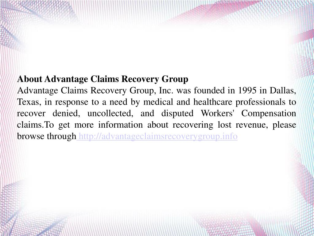 About Advantage Claims Recovery Group