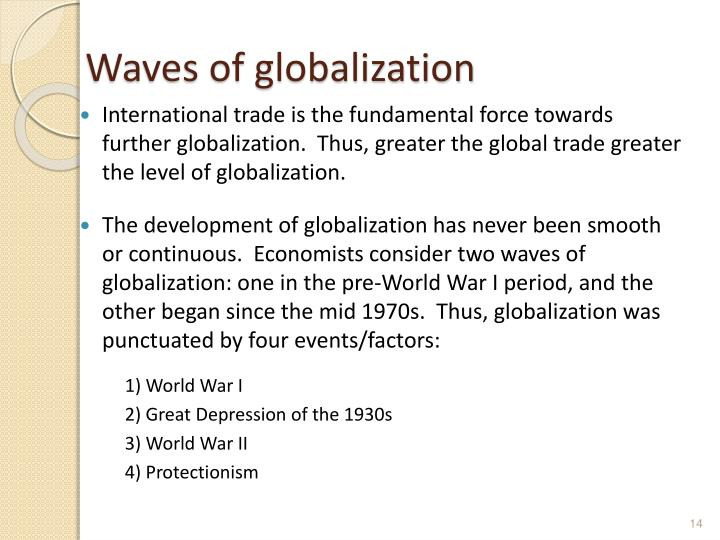 Waves of globalization