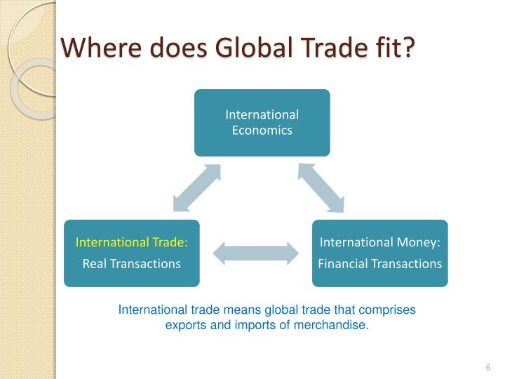 Where does Global Trade fit?