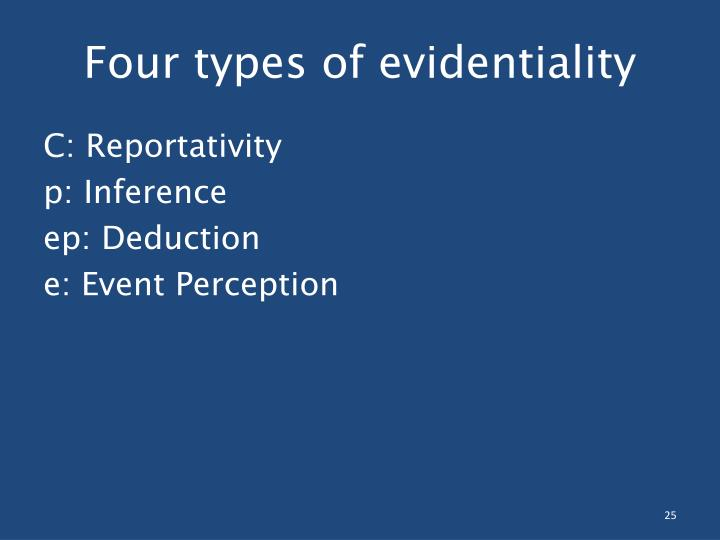 Four types of evidentiality