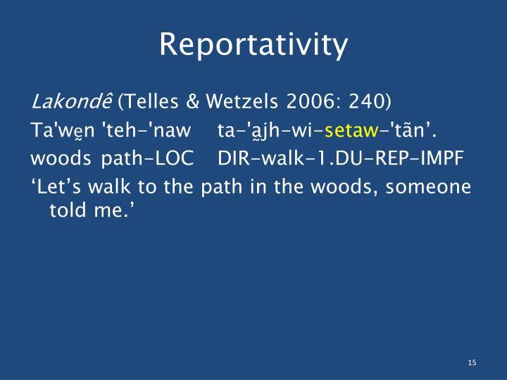 Reportativity