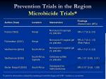 prevention trials in the region microbicide trials