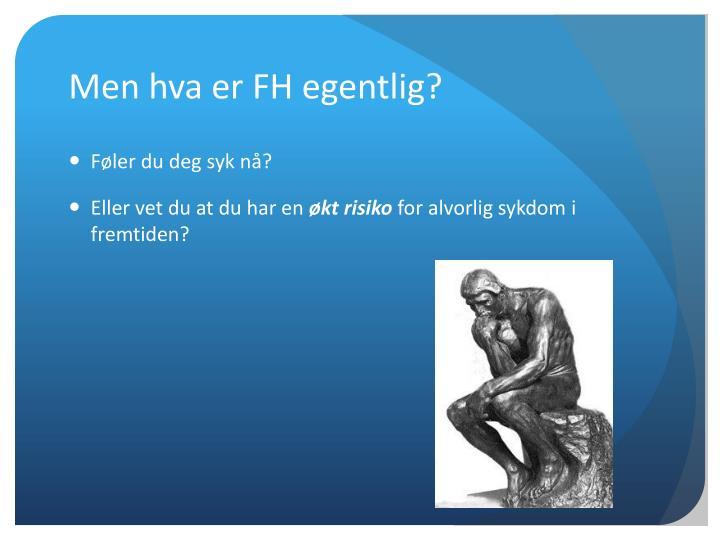 Men hva er FH egentlig?