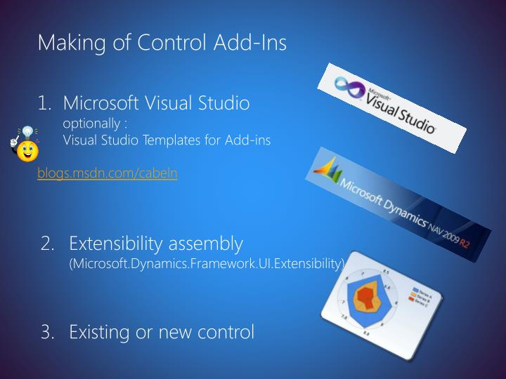 Making of Control Add-Ins