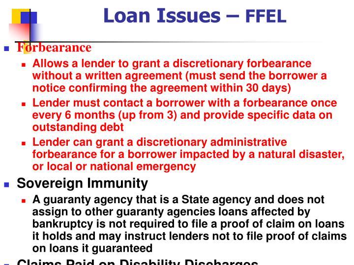 Loan Issues –