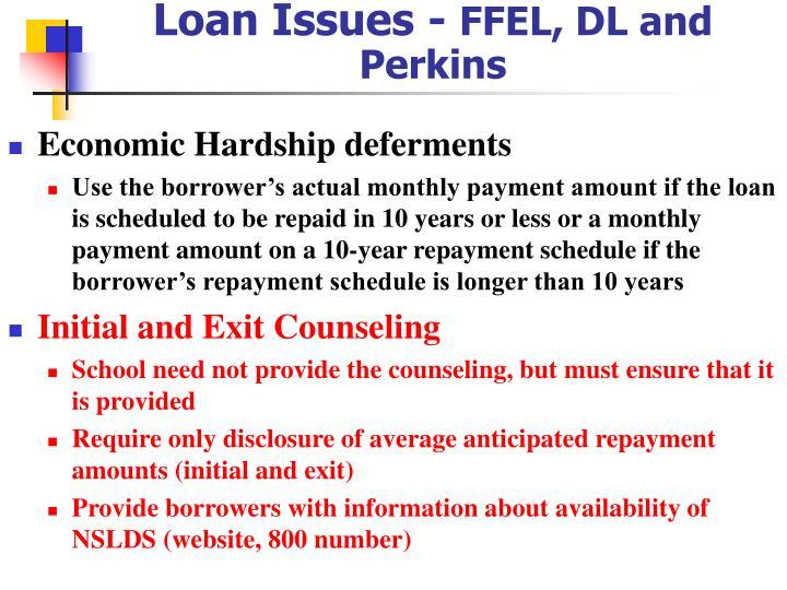 Loan Issues -