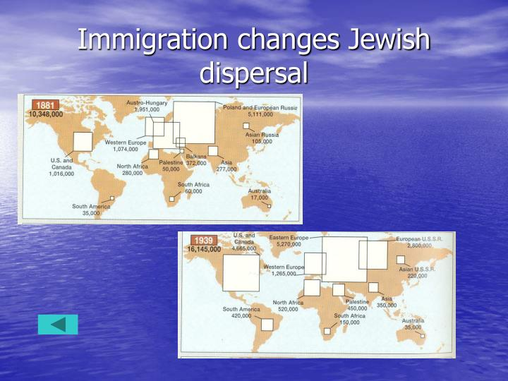 Immigration changes Jewish dispersal