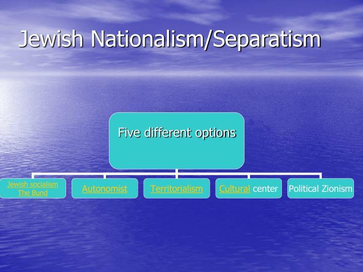 Jewish Nationalism/Separatism