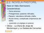 2 2 novela pastoril