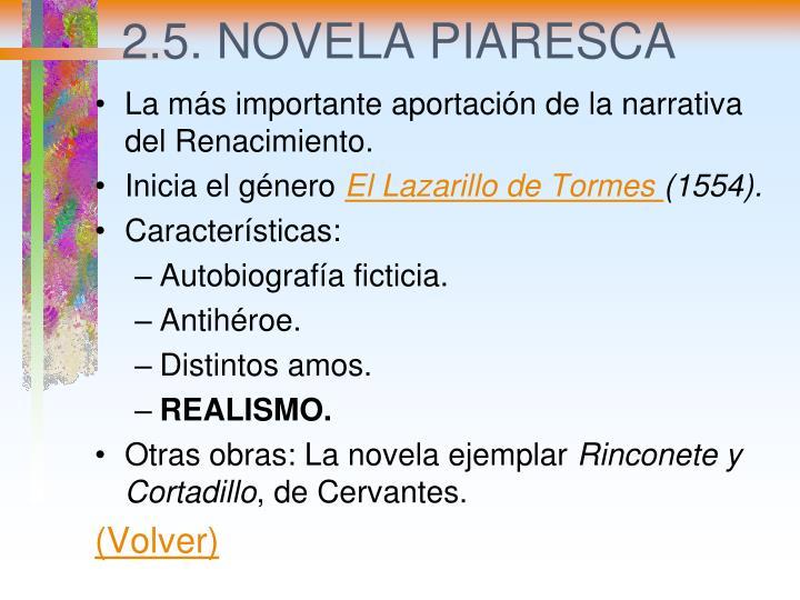 2.5. NOVELA PIARESCA