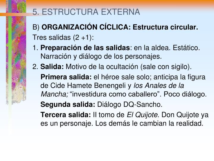 5. ESTRUCTURA EXTERNA