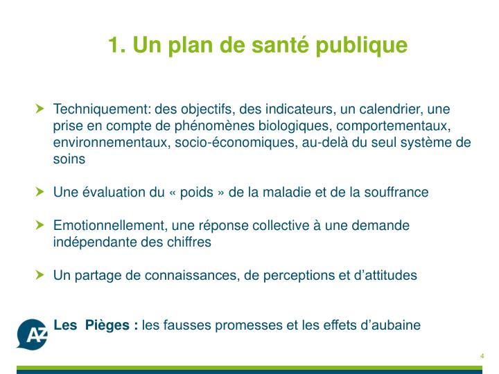 1. Un plan de santé publique