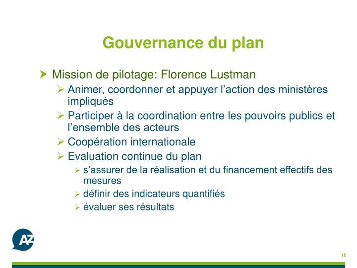 Gouvernance du plan