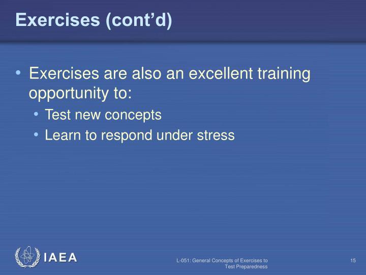 Exercises (cont'd)