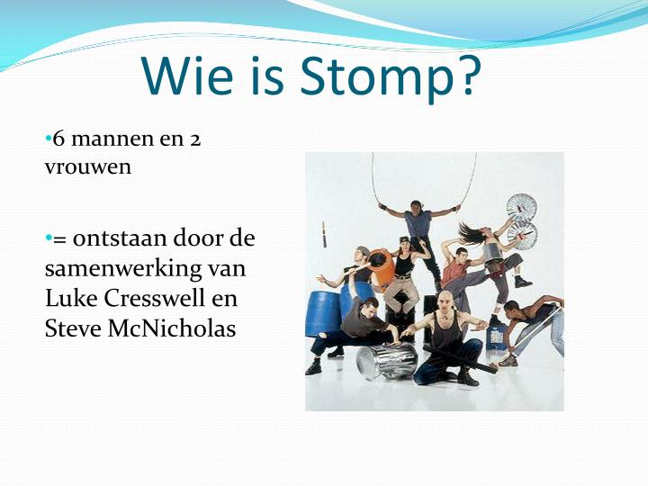 Wie is stomp