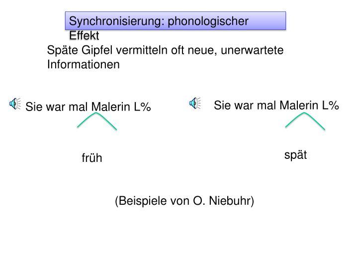 Synchronisierung: phonologischer Effekt