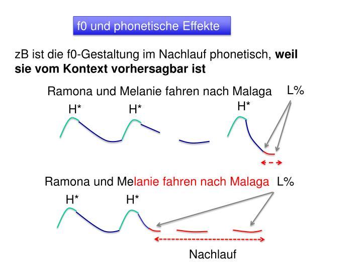 f0 und phonetische Effekte