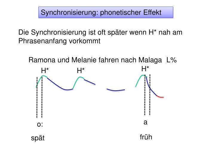 Synchronisierung: phonetischer Effekt
