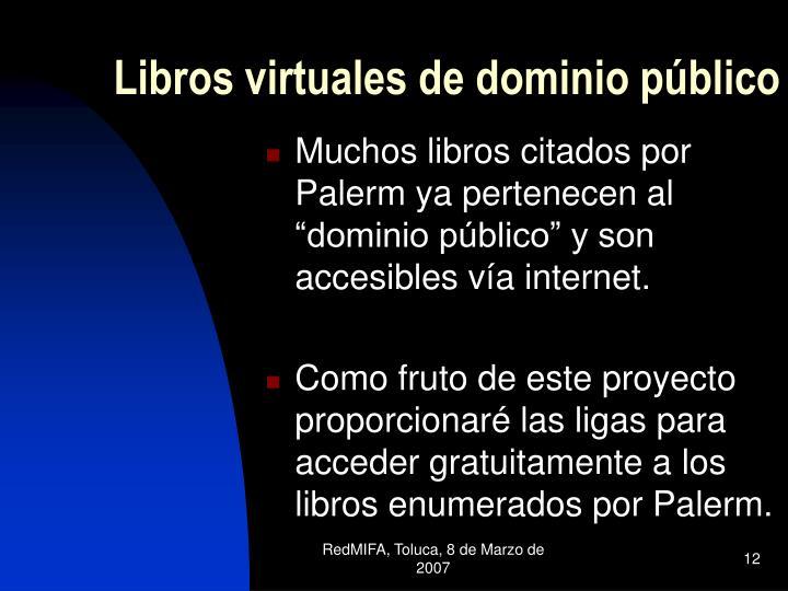 Libros virtuales de dominio público