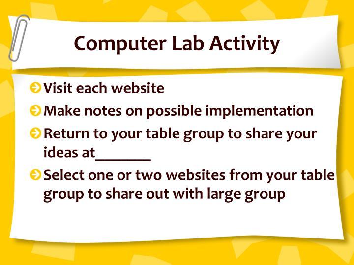Computer Lab Activity