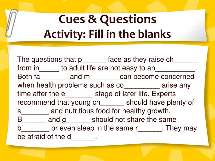 Cues & Questions
