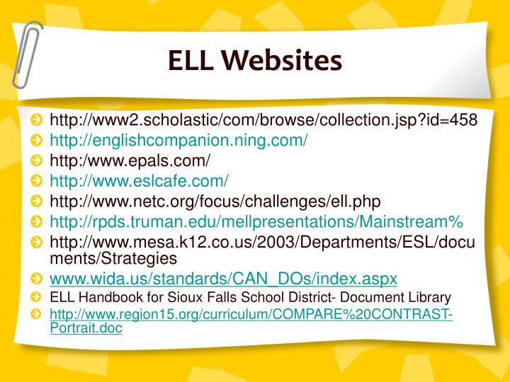 ELL Websites