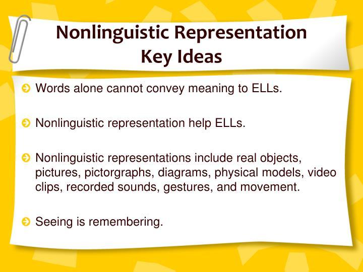Nonlinguistic Representation