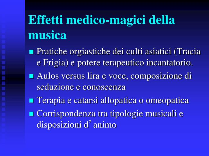 Effetti medico-magici della musica