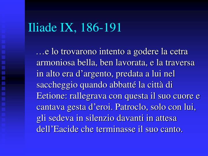 Iliade IX, 186-191