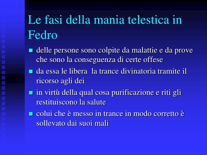 Le fasi della mania telestica in Fedro
