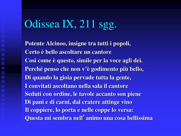 Odissea IX, 211 sgg.
