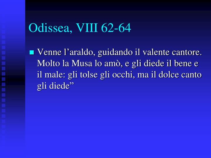 Odissea, VIII 62-64