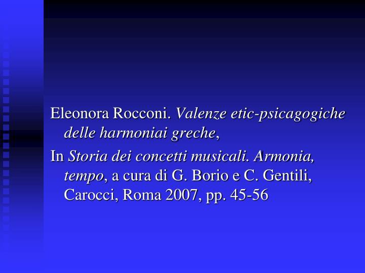 Eleonora Rocconi.